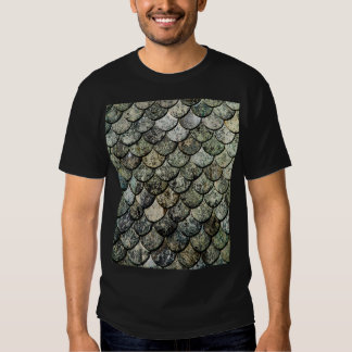 Norwegian Fish Scale Pattern Slate Roof T Shirt
