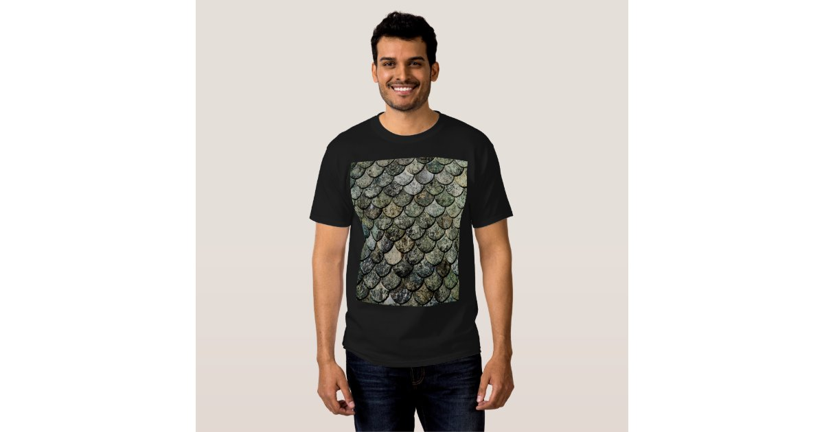 Norwegian fish scale pattern slate roof t shirt zazzle for Fish scale shirt
