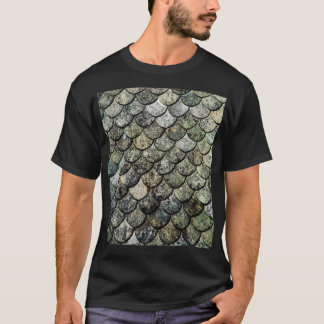 Norwegian Fish Scale Pattern Slate Roof T-Shirt