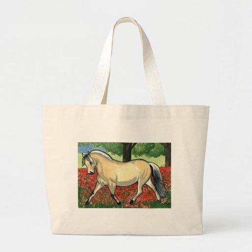 Norwegian Fjord HORSE ART Canvas Bag