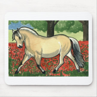 Norwegian Fjord HORSE ART Mouse Pad