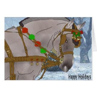 Norwegian Fjord Horse Christmas Card