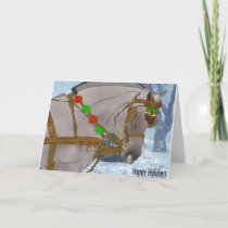 Norwegian Fjord Horse Christmas Holiday Card
