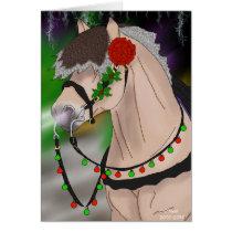 Norwegian Fjord Horse Christmas Stallion Christmas Card