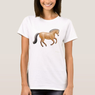 Norwegian Fjord Horse Ladies Babydoll Shirt