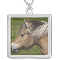 Norwegian Fjord Horse Silver Plated Necklace