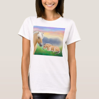 Norwegian Fjord Horses at Rest Babydoll Shirt