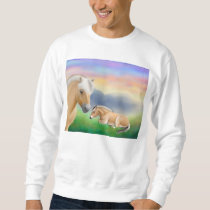 Norwegian Fjord Horses at Rest Sweatshirt