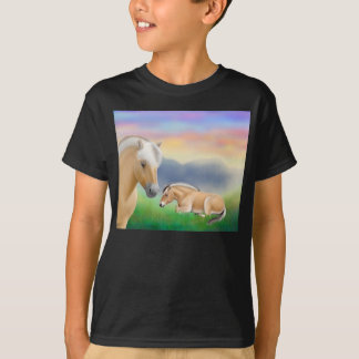 Norwegian Fjord Horses Kids Dark T-Shirt