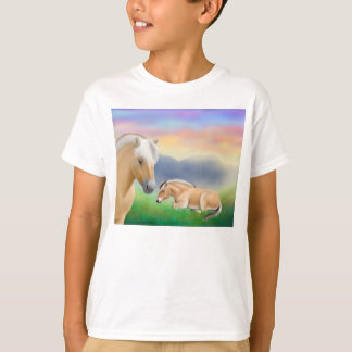 Norwegian Fjord Horses Kids T-Shirt