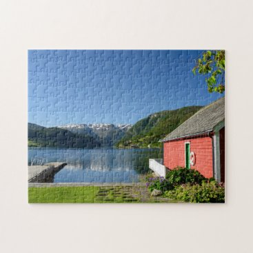 iPictures Norwegian fjord view and boathouse jigsaw puzzle