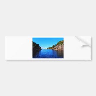 Norwegian fjords bumper sticker