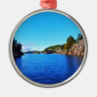 Norwegian fjords metal ornament