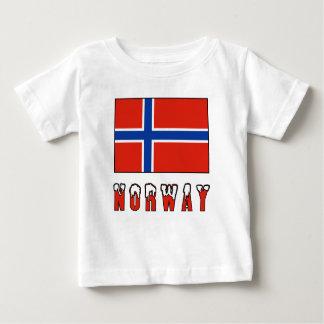 Norwegian Flag and Norway Baby T-Shirt