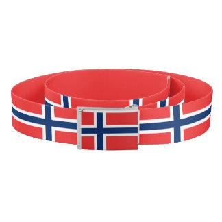 Norwegian flag belt