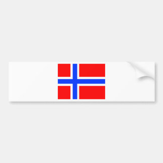 Norwegian Flag Car Bumper Sticker