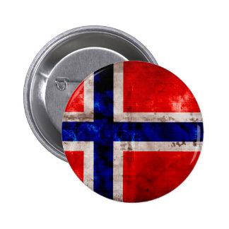 Norwegian Flag 2 Inch Round Button