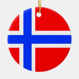 Norwegian Flag Ceramic Ornament