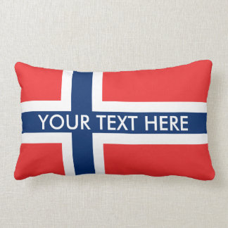Norwegian flag custom throw pillows for Norway