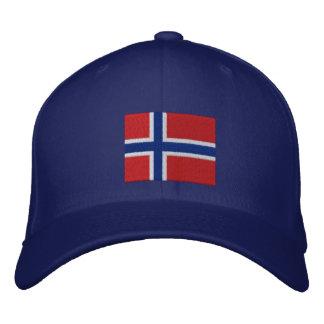 Norwegian Flag Embroidered Baseball Cap