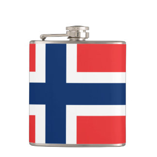 Norwegian flag Flask