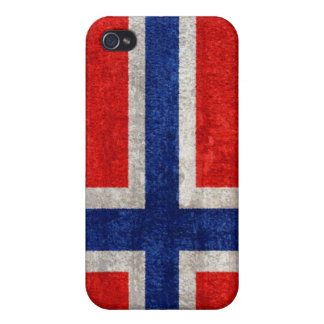 Norwegian Flag Grunge Distressed Case For iPhone 4