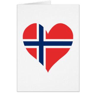 Norwegian Flag Heart Card