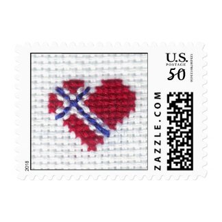 Norwegian Flag Heart Cross Stitch Nordic Norway Hj Postage
