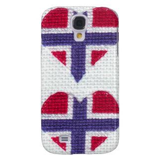 Norwegian Flag Heart Cross Stitch Nordic Norway Sc Galaxy S4 Case