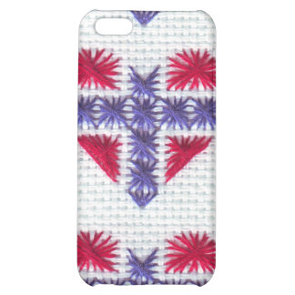 Norwegian Flag Heart Cross Stitch Nordic Norway Sc iPhone 5C Covers