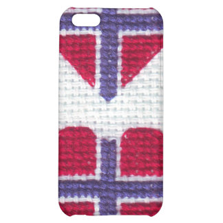 Norwegian Flag Heart Cross Stitch Nordic Norway Sc iPhone 5C Cover