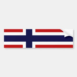 Norwegian Flag - Kongeriket Norge - Norsk Flagg Car Bumper Sticker