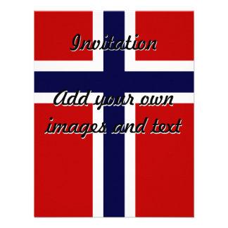 Norwegian Flag - Kongeriket Norge - Norsk Flagg Personalized Invite