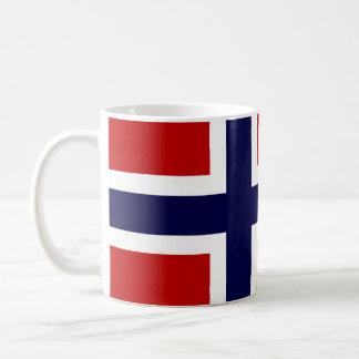 Norwegian Flag - Kongeriket Norge - Norsk Flagg Classic White Coffee Mug