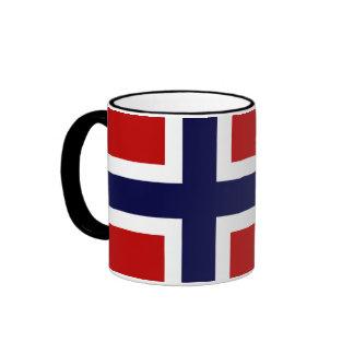 Norwegian Flag - Kongeriket Norge - Norsk Flagg Ringer Mug