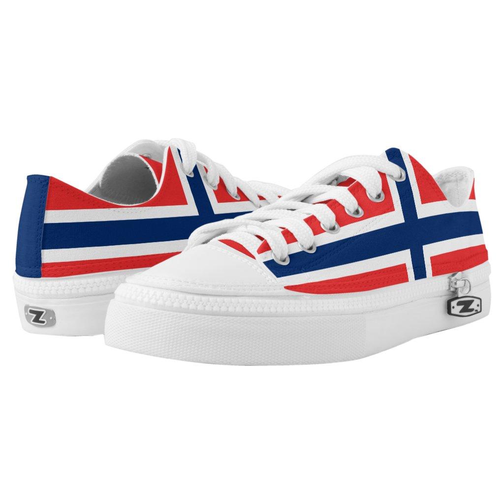 Norwegian flag Low Top Shoes