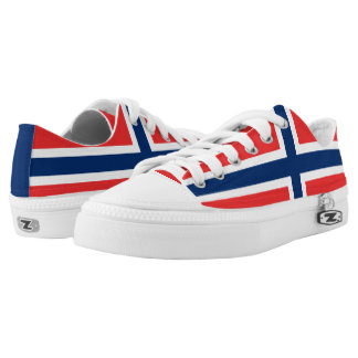 Norwegian flag Low Top Shoes