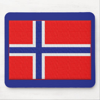 Norwegian Flag Mouse Pad