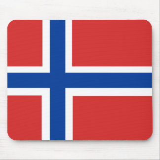 Norwegian Flag Mouse Pad