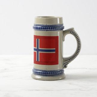 Norwegian Flag 18 Oz Beer Stein