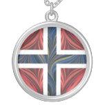 Norwegian Flag Norway Nordic Scandinavian Cross Pendants