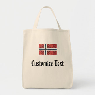Norwegian Flag Norway Nordic Scandinavian Cross No Tote Bags