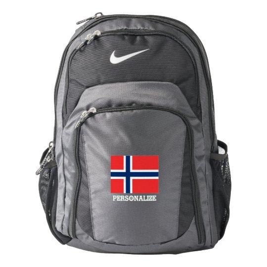 e0700a4a98aa Norwegian flag Norway pride custom Nike backpack
