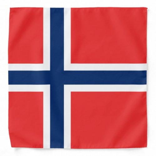 Norwegian flag of Norway bandana
