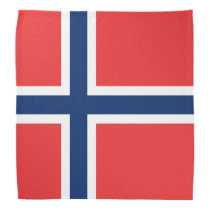 Norwegian flag of Norway bandana