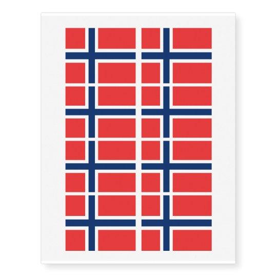 Norwegian flag of Norway custom Temporary Tattoos