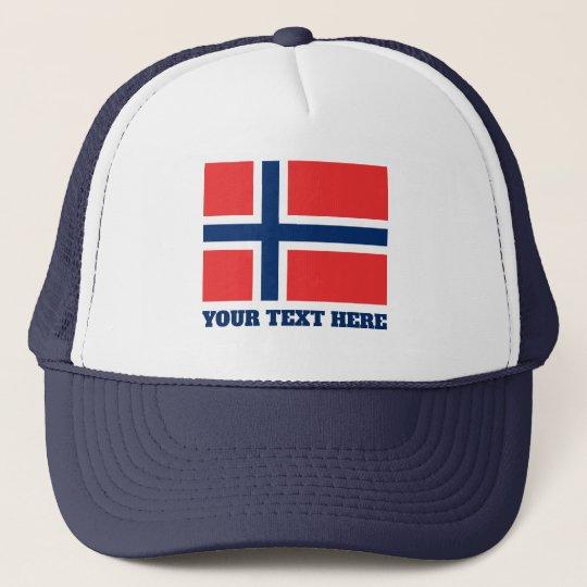 Norwegian flag of Norway custom trucker hat