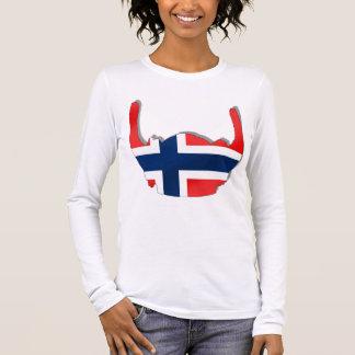 Norwegian flag of Norway viking helmet Long Sleeve T-Shirt
