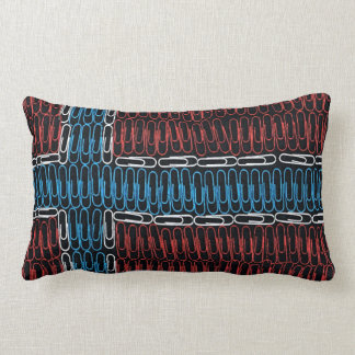 Norwegian Flag of Paperclips Throw Pillows
