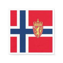Norwegian flag paper napkin